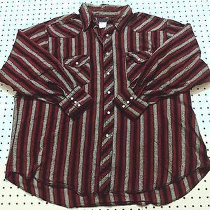 Wrangler Snap Button Shirt, Size 2XL